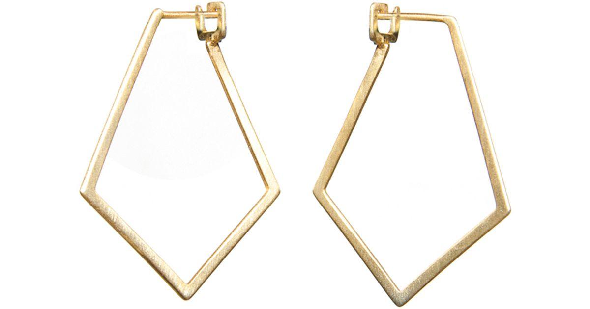 Lyst Dutch Basics Ruit Creole Earrings Gold In Metallic Save 11 340206185567013