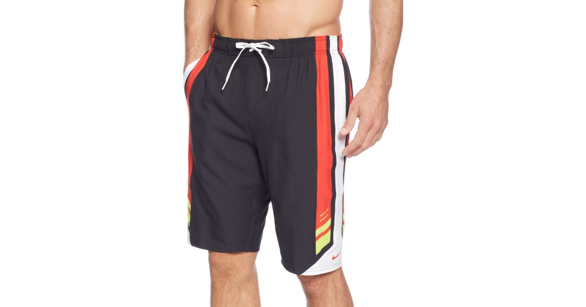 60a81045c3 Nike Transcend 11 Volley Drifit Swim Shorts in Red for Men - Lyst