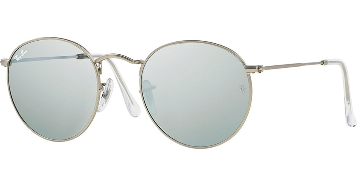 Ray Ban Round Frame Sunglasses : Ray-ban Round Metal-frame Sunglasses With Silver Mirror ...