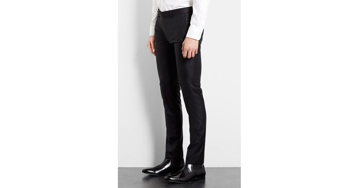 Topman Ultra Skinny Black Suit Trousers in Black for Men | Lyst