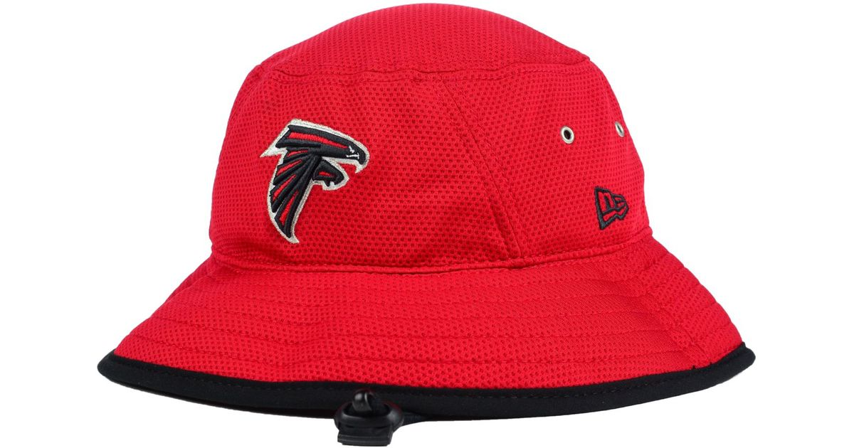 cb4ff59e6ee5e KTZ Atlanta Falcons Training Bucket Hat in Red for Men - Lyst