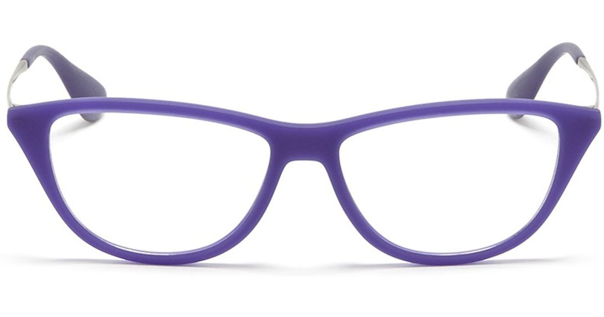 3d6878ac0c Ray-Ban Rubber Acetate Cat Eye Optical Glasses in Purple - Lyst