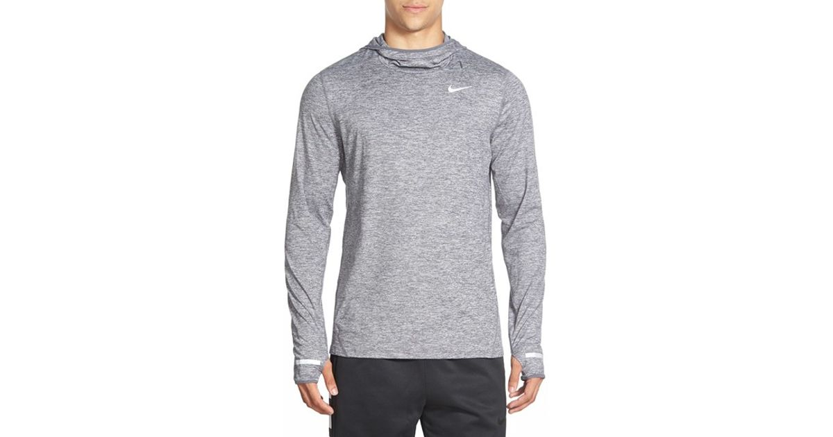 047679674 Nike 'element' Dri-fit Running Hoodie in Gray for Men - Lyst
