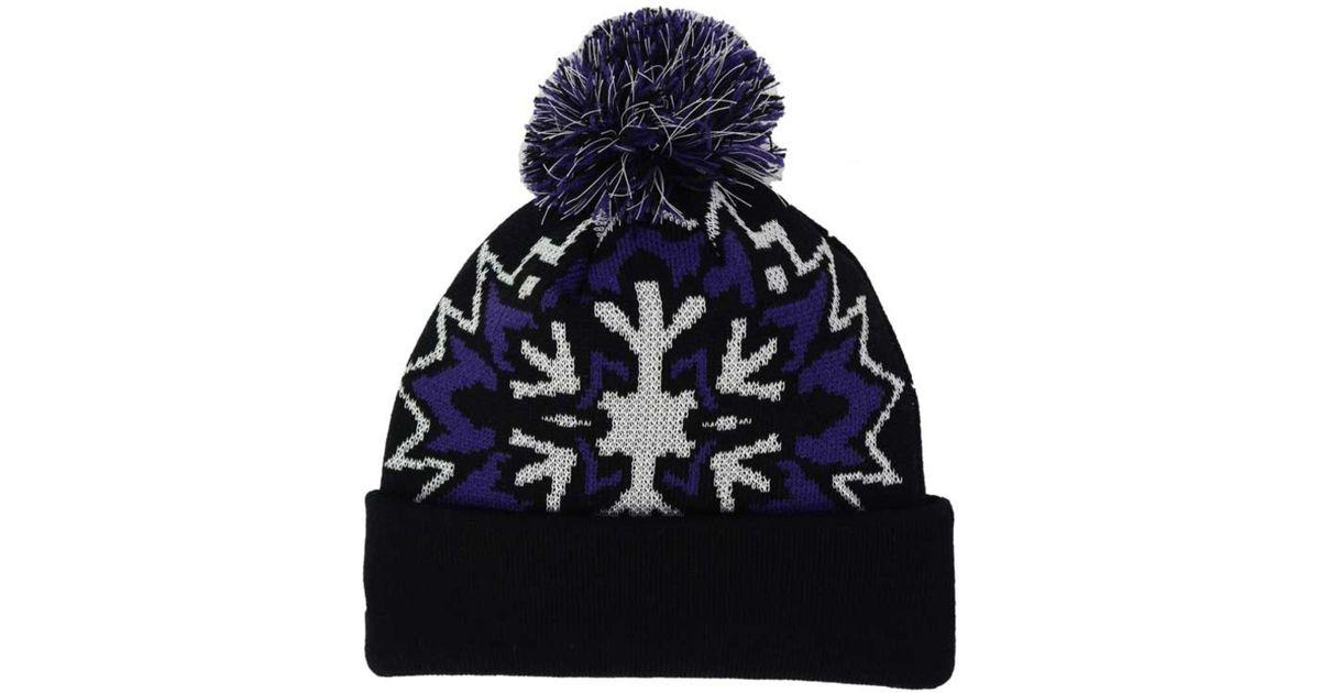 size 40 3b965 1e452 Lyst - KTZ Colorado Rockies Glowflake Knit Hat in Purple for Men