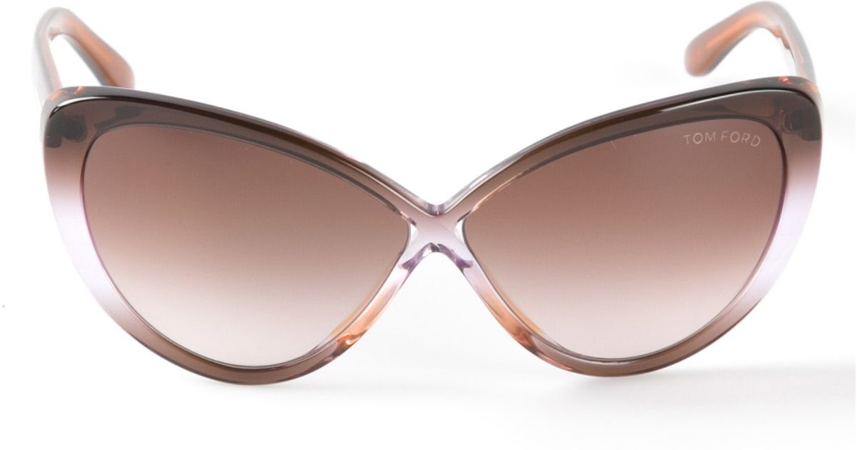 bd035d959630 Lyst - Tom Ford  Madison  Sunglasses in Purple