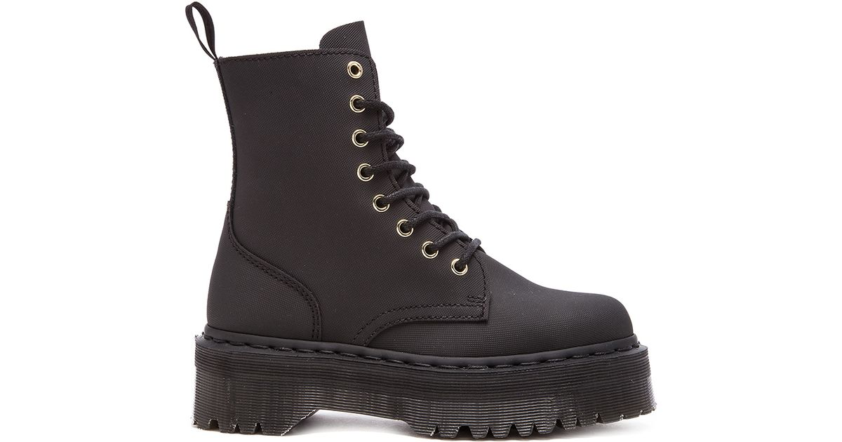 ff621de38f08 Lyst - Dr. Martens Jadon 8-Eye Leather Boots in Black