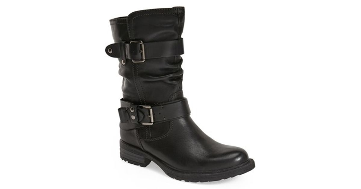 Earth Everwood Leather Mid Calf Boots In Black Lyst