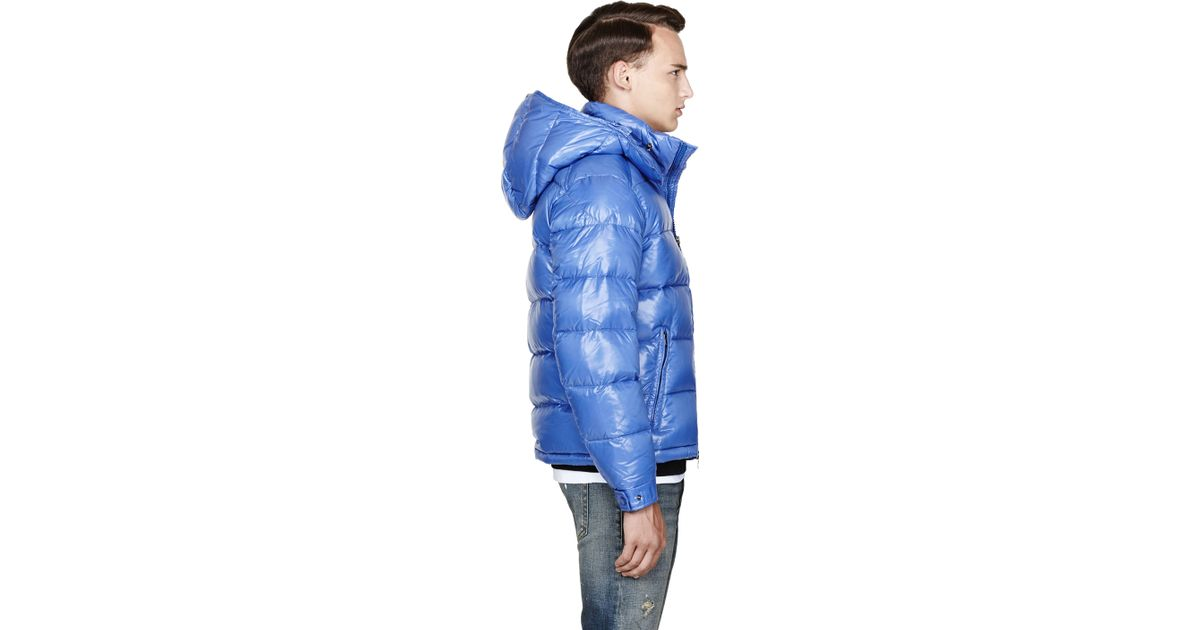 38664cd87 Lyst - Moncler Blue Quilted Down Maya Jacket in Blue for Men