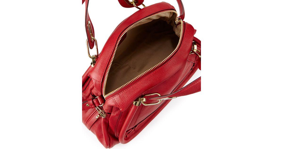Chlo¨¦ Paraty Medium Satchel Bag in Red | Lyst