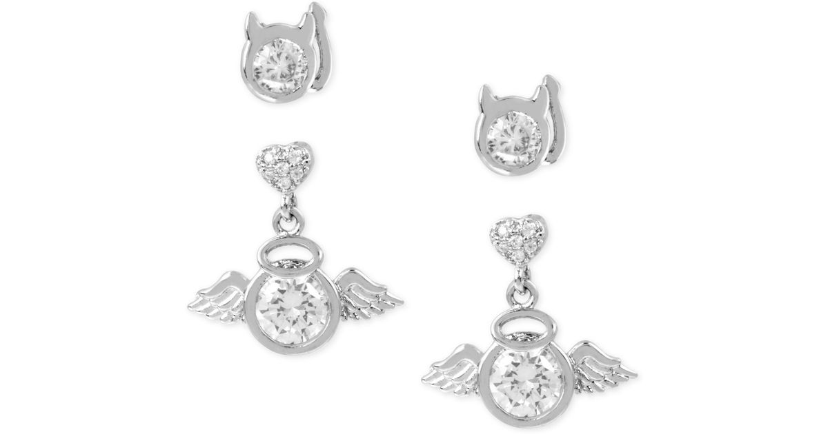 betsey johnson silver tone duo set and