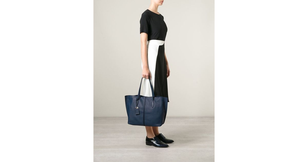 b91272ae3d Tod's 'Joy' Shopping Tote in Blue - Lyst