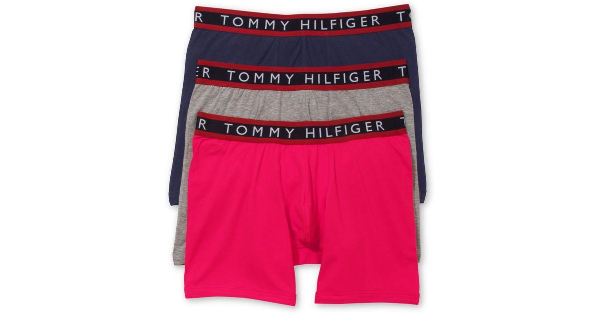 tommy hilfiger men 39 s stretch boxer briefs 3 pack in black. Black Bedroom Furniture Sets. Home Design Ideas