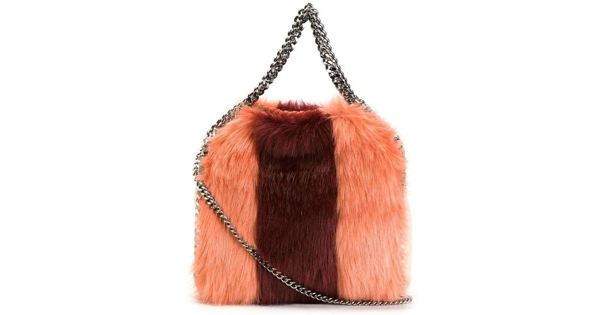 78a680ca1c Stella McCartney Small  falabella  Faux-fur Tote in Pink - Lyst