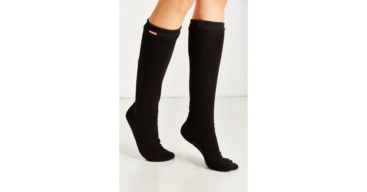 Lyst - Hunter Fitted Tall Boot Sock in Black