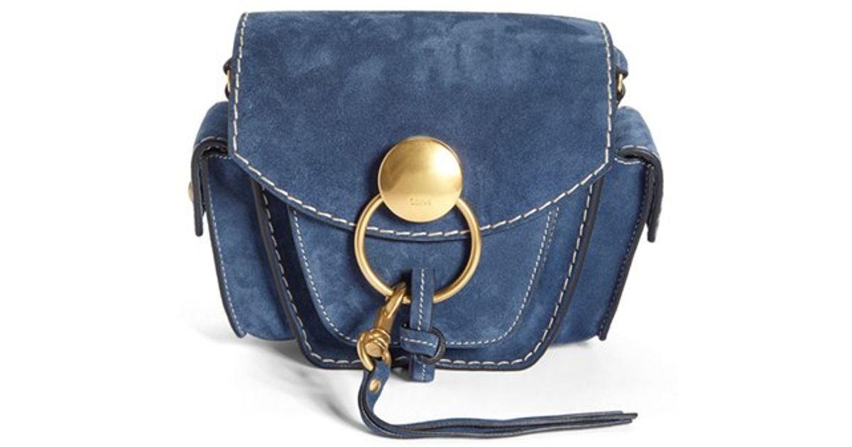chloe wallets and purses - Chlo�� \u0026#39;small Jodie\u0026#39; Suede Camera Bag in Blue (ROYAL NAVY) | Lyst