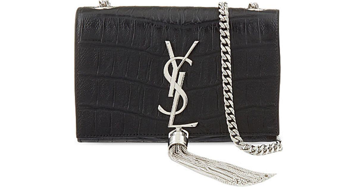 d6accedab0e7 Lyst - Saint Laurent Monogram Small Leather Shoulder Bag