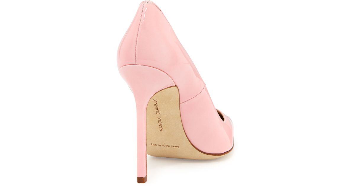 27f52be02cce Lyst - Manolo Blahnik Bb Patent 115Mm Pump in Pink