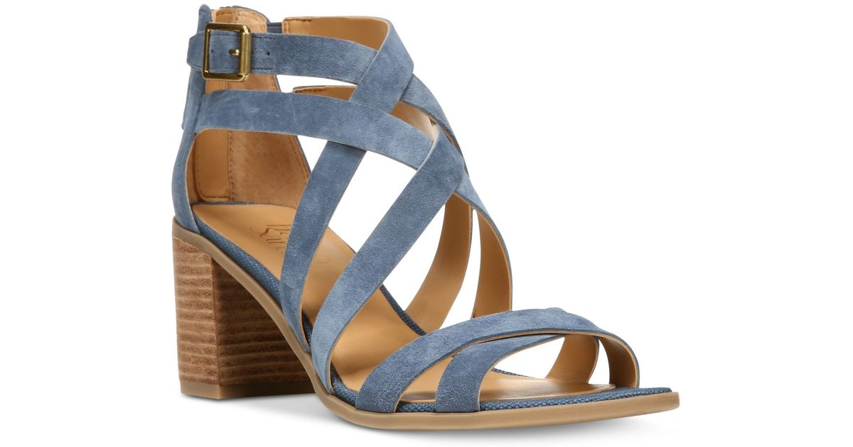 Franco sarto Hachi Strappy Sandals in Blue (Navy) - Save ...