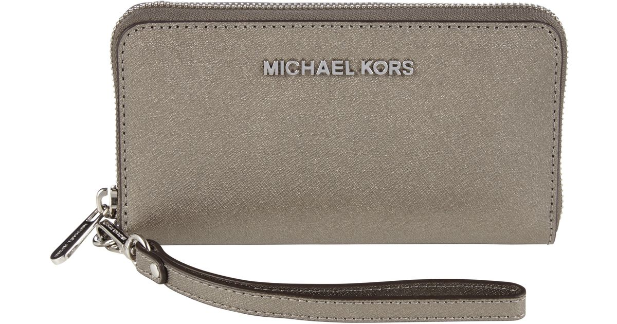 3ff4ce84cdfd3 MICHAEL Michael Kors Large Jet Set Travel Multi-function Purse in Metallic  - Lyst