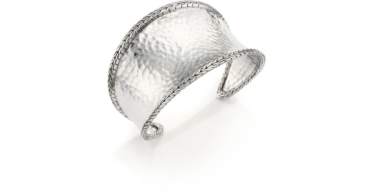 John Hardy Classic Chain Hammered Sterling Silver Cuff