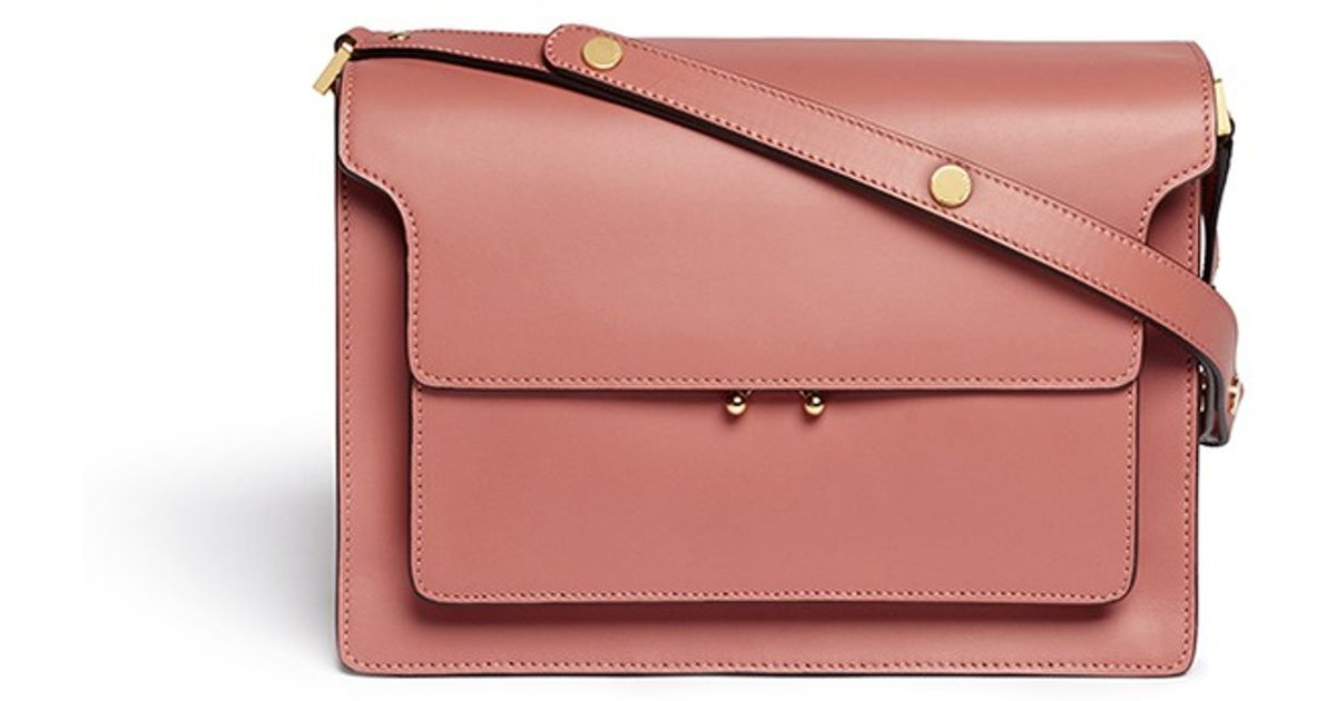 authentic quality real quality moderate cost Marni - Pink 'trunk' Small Leather Shoulder Bag - Lyst