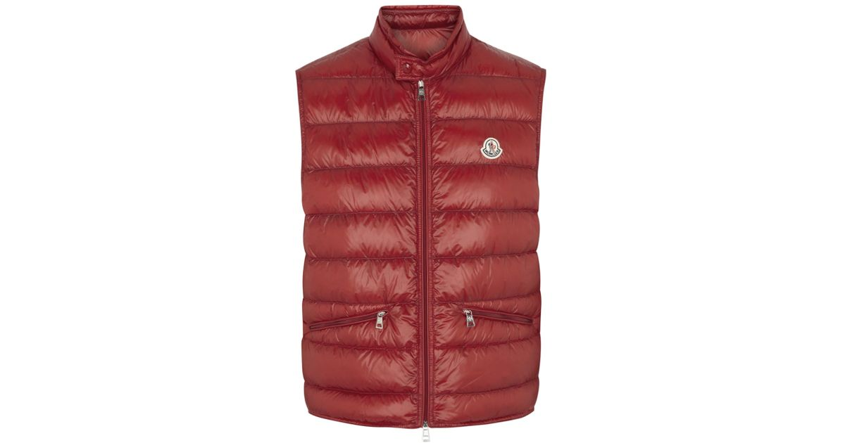 a15b04af4de2 Moncler Gui Red Quilted Shell Gilet in Red for Men - Lyst