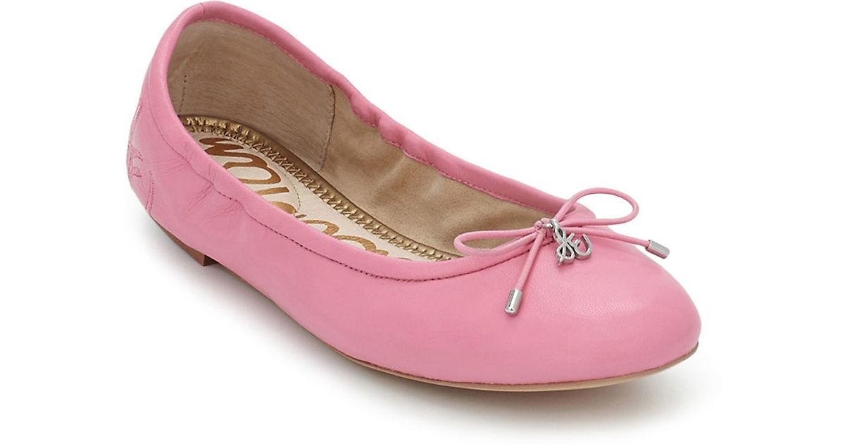 d604eafeaa575e Sam Edelman Felicia Leather Ballet Flats in Pink - Lyst