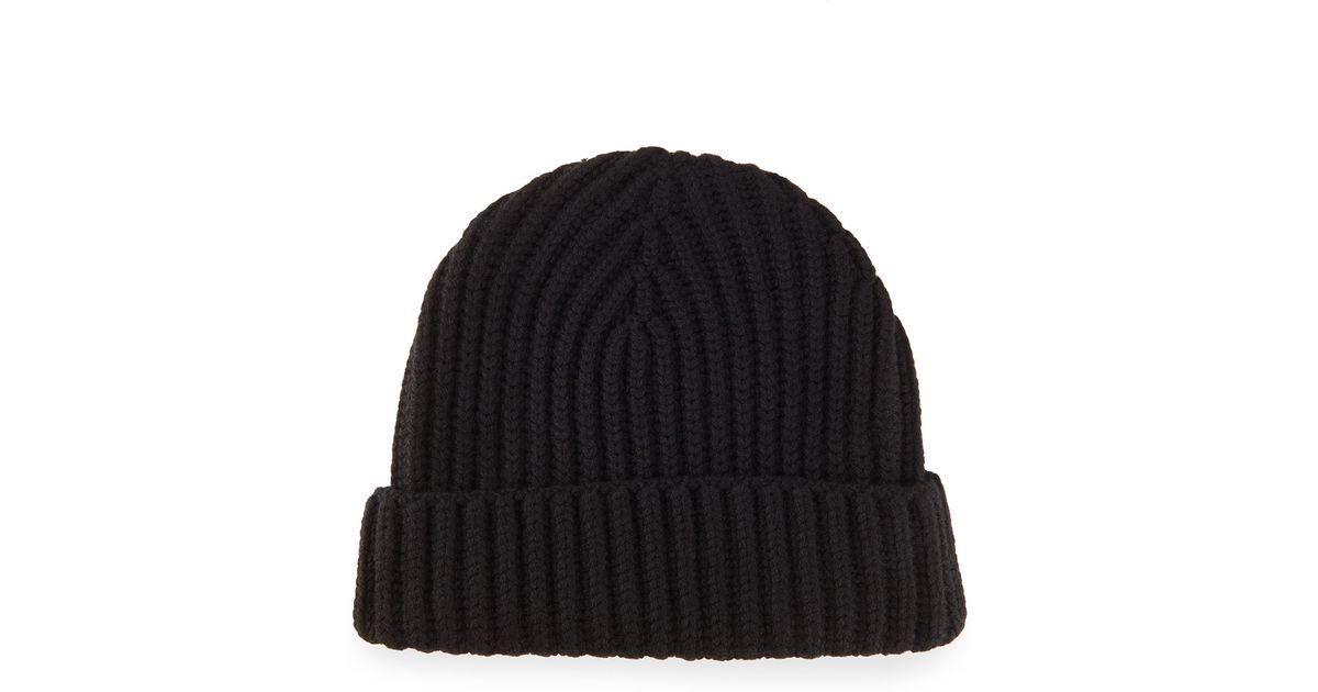 c7942ecd5ff Lyst - Loro Piana Ribbed Cashmere Beanie Hat in Black