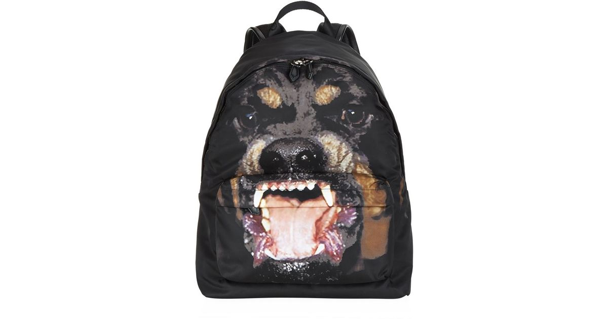 Givenchy Rottweiler Print Nylon Backpack in Black for Men - Lyst 7f836eb00ce89