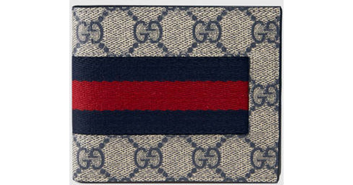 0b7c03a2d57 Gucci Web Gg Supreme Billfold Wallet