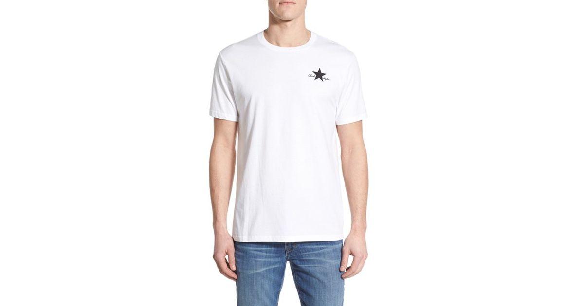 32de22e38b4533 Lyst - Converse  chuck Taylor All-star Ii  Graphic Crewneck T-shirt in  White for Men