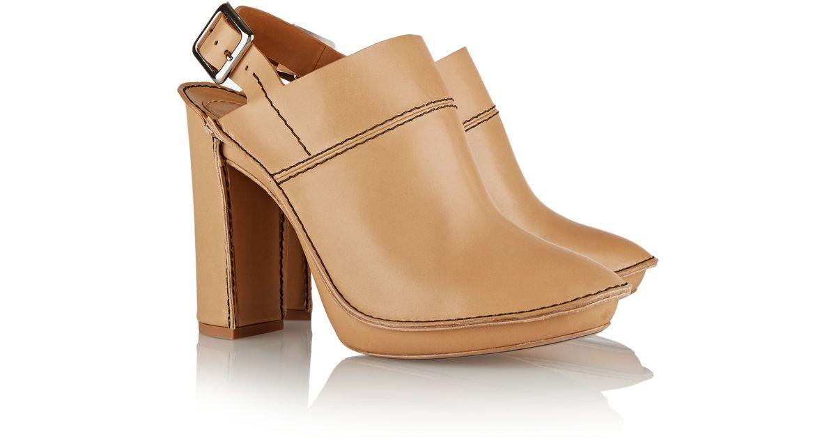 Chloé Leather mules EGXJS