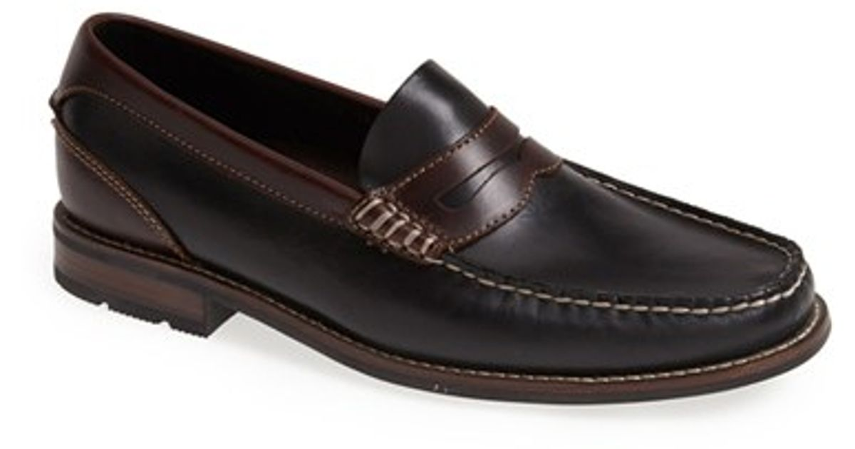 9221dd471a2 Lyst - Sperry Top-Sider  essex  Penny Loafer in Black for Men