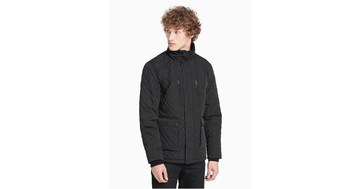 Lyst Calvin Klein Quilted Field Jacket In Black For Men