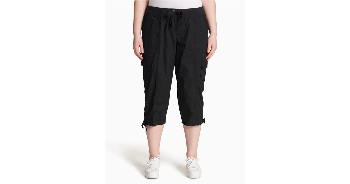 2232d9dd3d7 Lyst - Calvin Klein 205W39Nyc Plus Size Performance Cargo Cropped Pants in  Black
