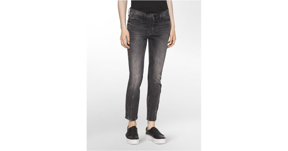 7cae53d4ef Lyst - Calvin klein Jeans Ultimate Skinny Cement Ankle Jeans in Gray