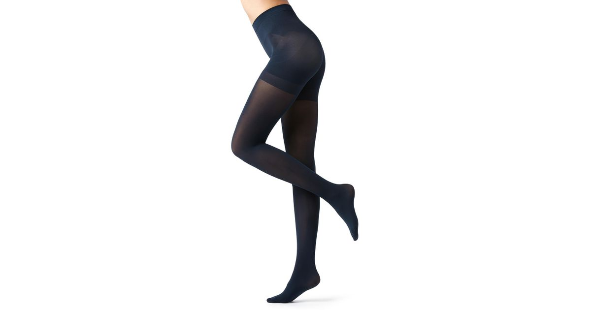 366550c97fcd5 Lyst - Calzedonia 50 Denier Total Shaper Tights in Blue