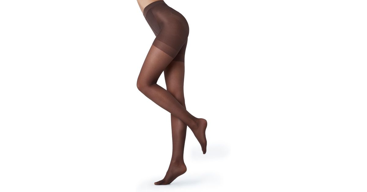 5bf2fbdfc Lyst - Calzedonia 30 Denier Total Shaper Sheer Tights in Brown
