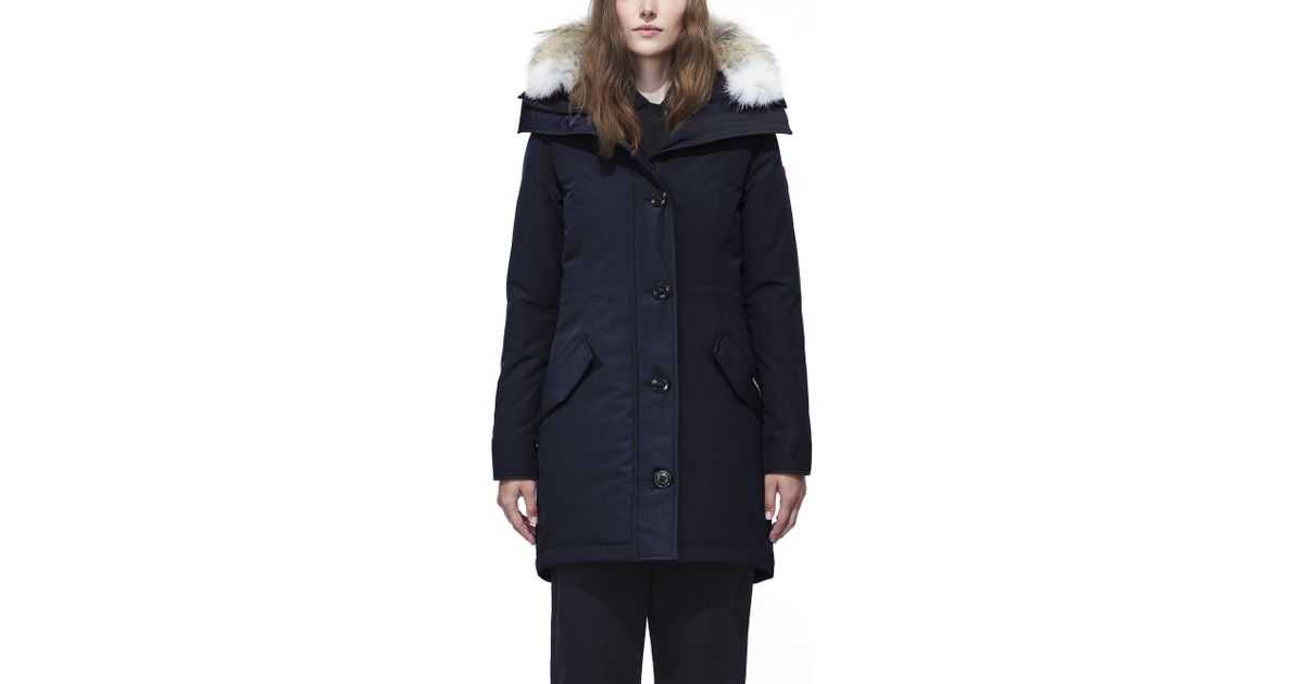 canada goose rossclair parka in blue lyst. Black Bedroom Furniture Sets. Home Design Ideas