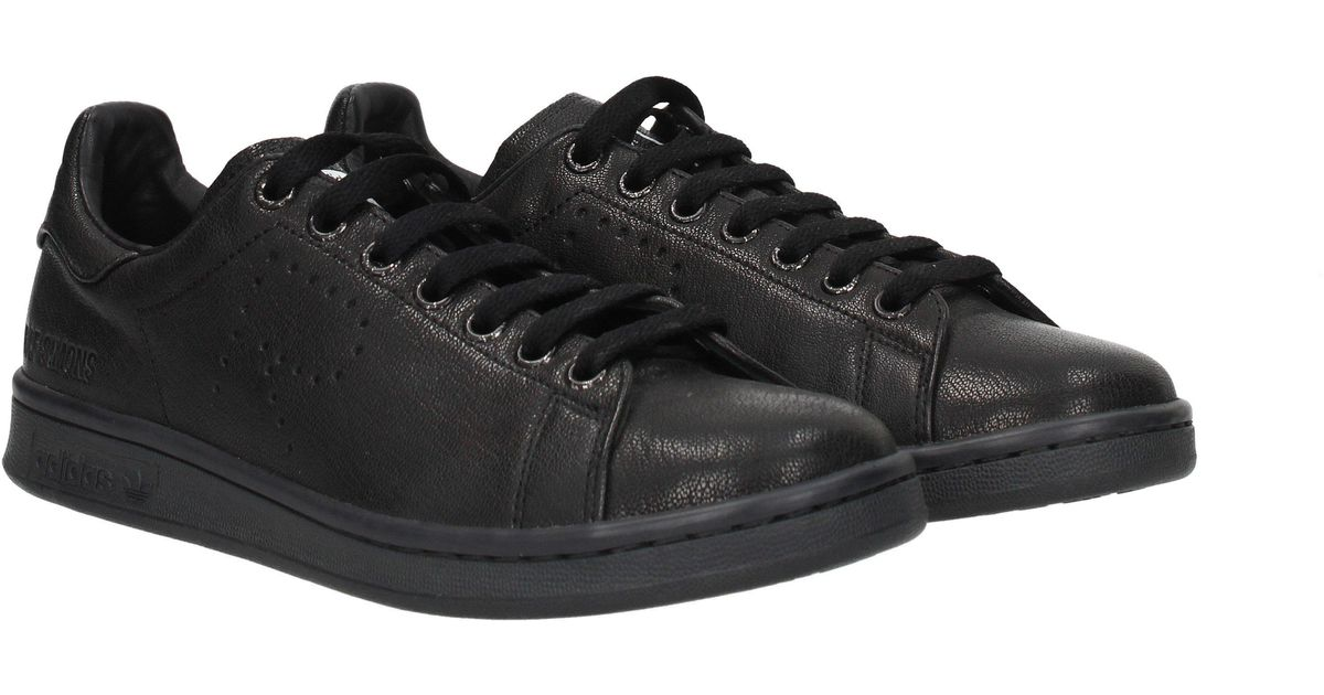new product b578c 1dc44 Lyst - adidas Sneakers Raf Simons Stan Smith Men Black in Black for Men