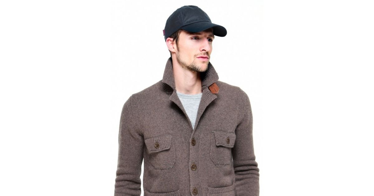 26fadca318a Lyst - Barbour Wax Sports Cap in Blue for Men