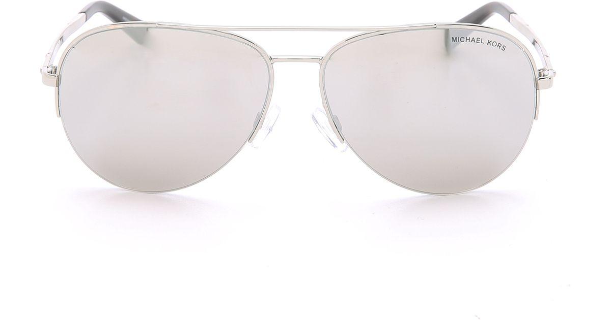 69645c7376b Lyst - Michael Kors Gramercy Sunglasses - Silver light Silver Flash in  Metallic
