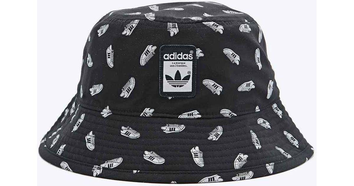 adidas Superstar Bucket Hat in Black for Men - Lyst 172d236223c