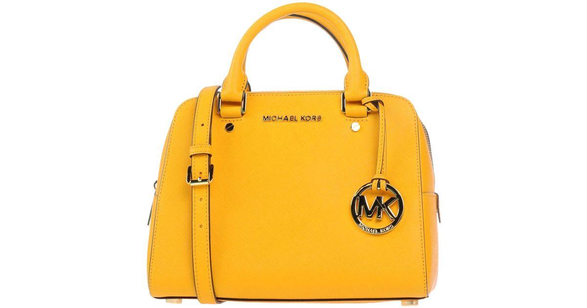 2e26749227e6 MICHAEL Michael Kors Handbag in Yellow - Lyst