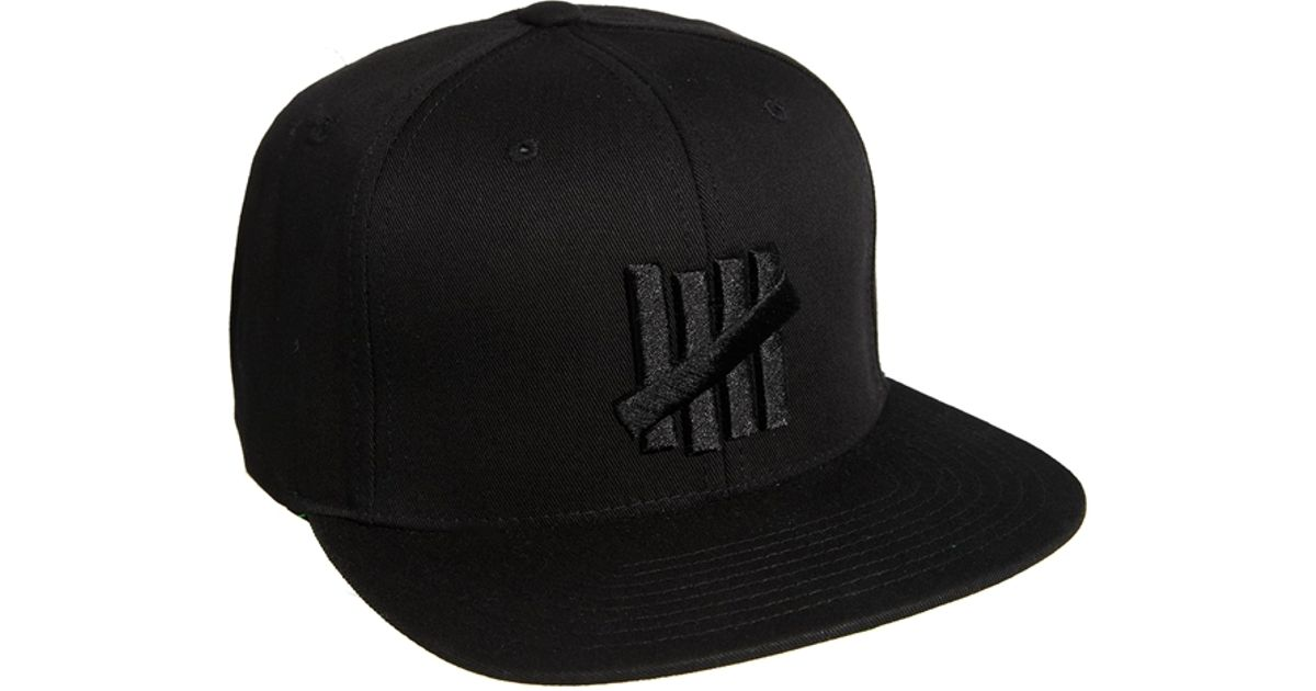 83b1e72b9c8 Undefeated 5 Strike Snapback Cap in Black for Men - Lyst