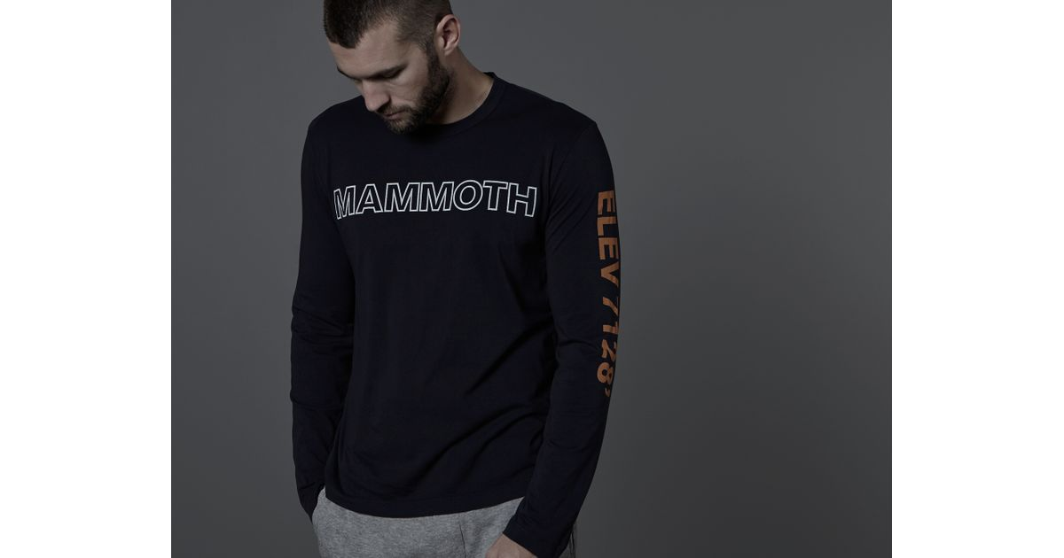 b5d8fb3d629 Lyst - James Perse Mammoth Long Sleeve Crew Neck Tee in Black for Men