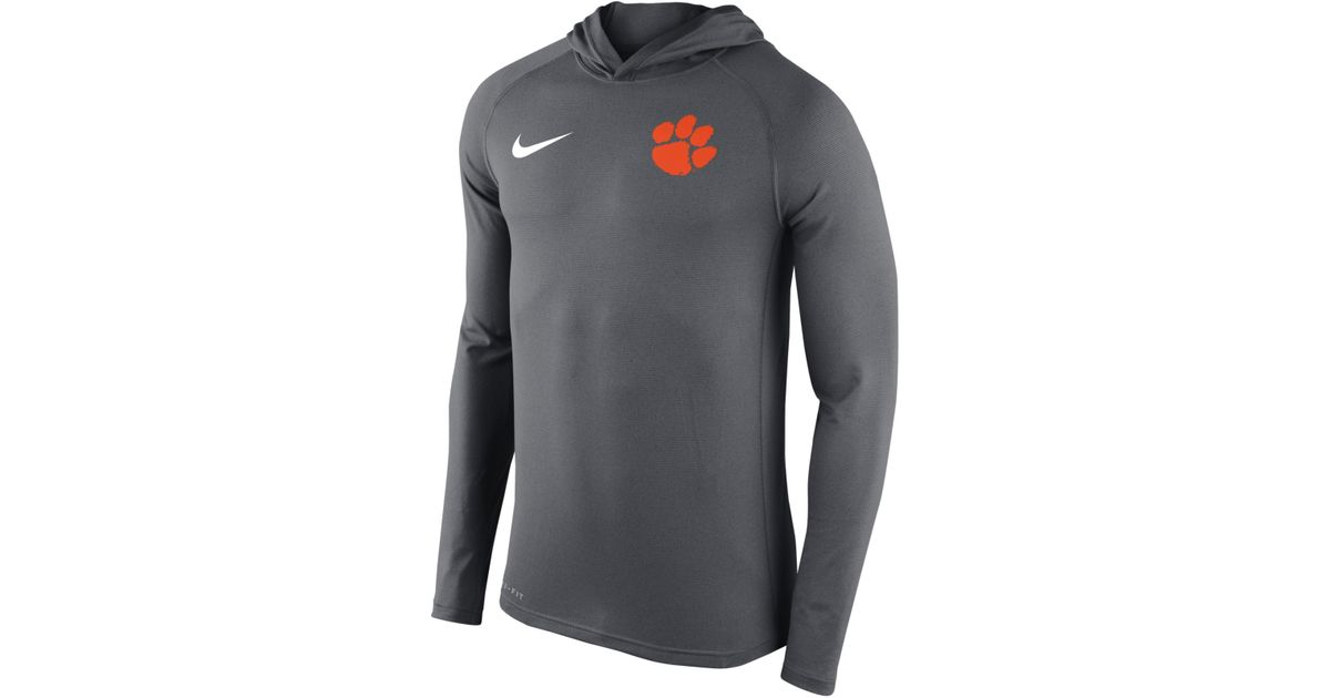 3203803f17d5 Lyst - Nike Men s Clemson Tigers Stadium Dri-fit Touch Hoodie in Gray for  Men