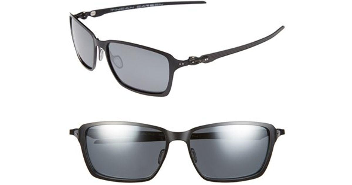 dddf206128 Lyst - Oakley  tincan Carbon  58mm Polarized Sunglasses - Satin Black   Black Iridium in Black for Men