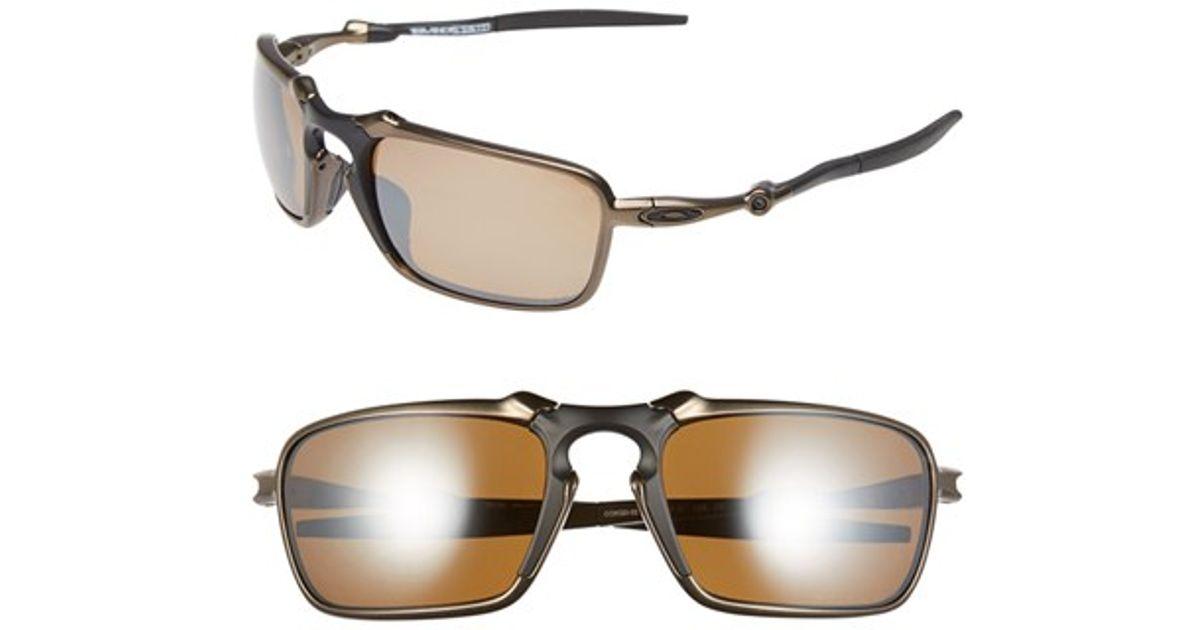 de50c796f5 Lyst - Oakley  badman  60mm Polarized Sunglasses - Pewter  Tungsten Iridium  in Metallic for Men