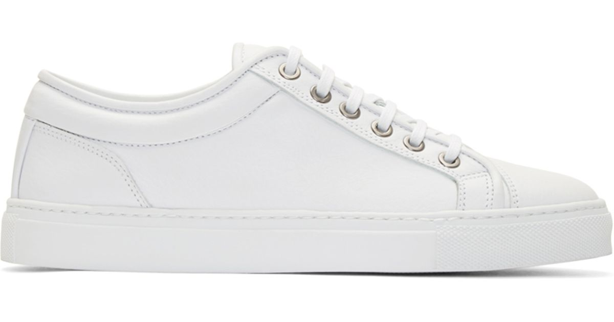 Lyst - ETQ Amsterdam White Leather Low 1 Sneakers in White for Men 790c87f57